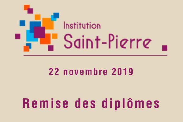 Photo présentant la soirée de remise des diplômes 2019 de l'Institution Saint-Pierre à Bourg-en-Bresse