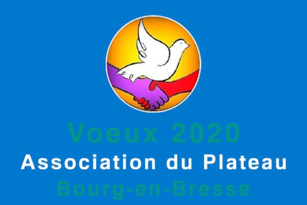 Image illustrant les voeux 2020 de l'association du plateau de Bourg-en-Bresse